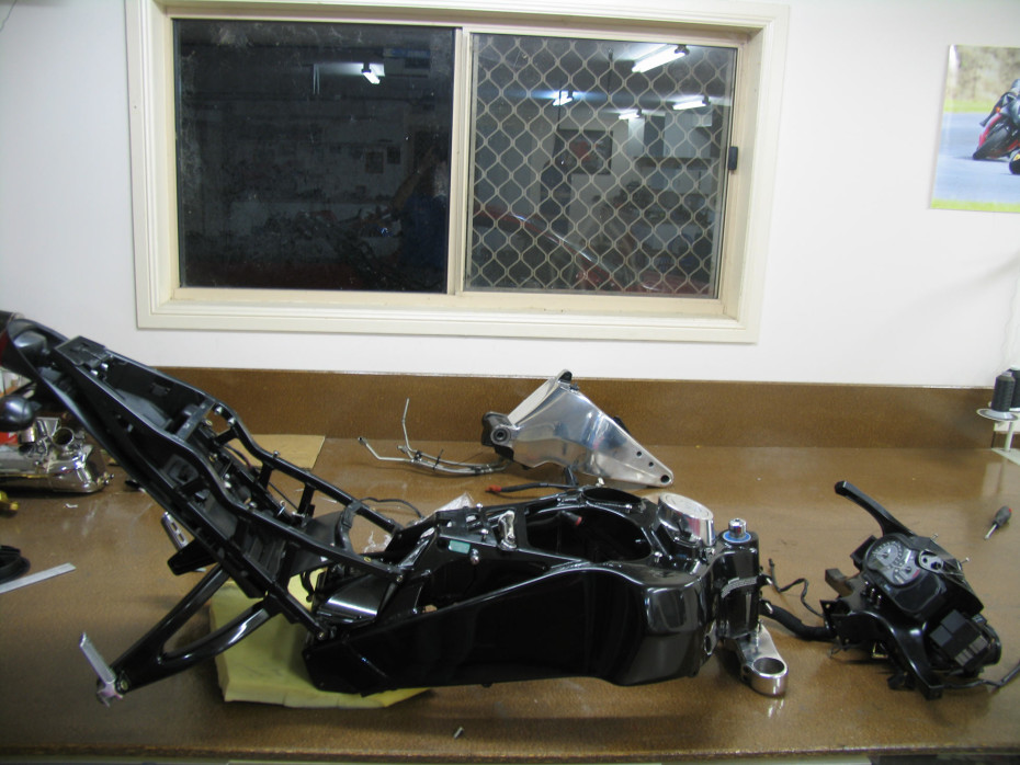 Tail and frame of buell