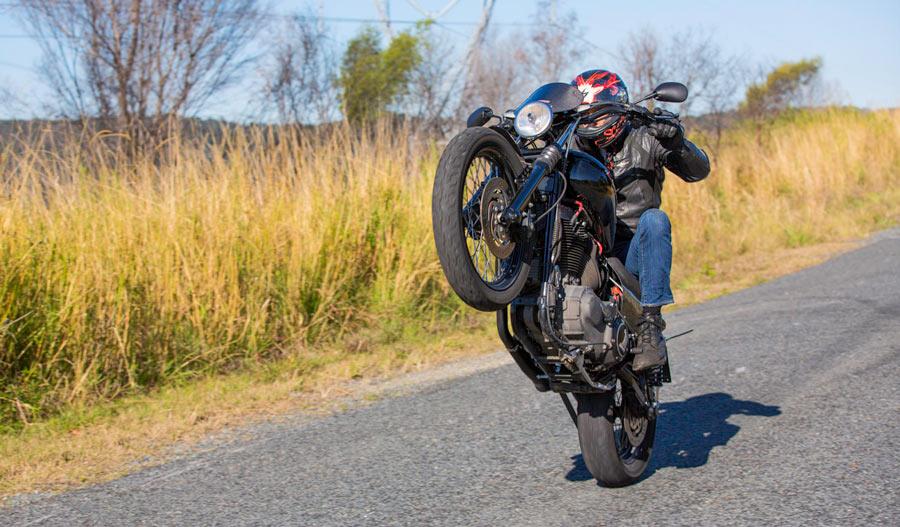 Harley Davidson wheelie