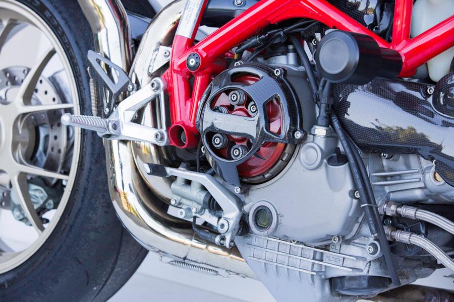 Ducati custom clutch cover carbon