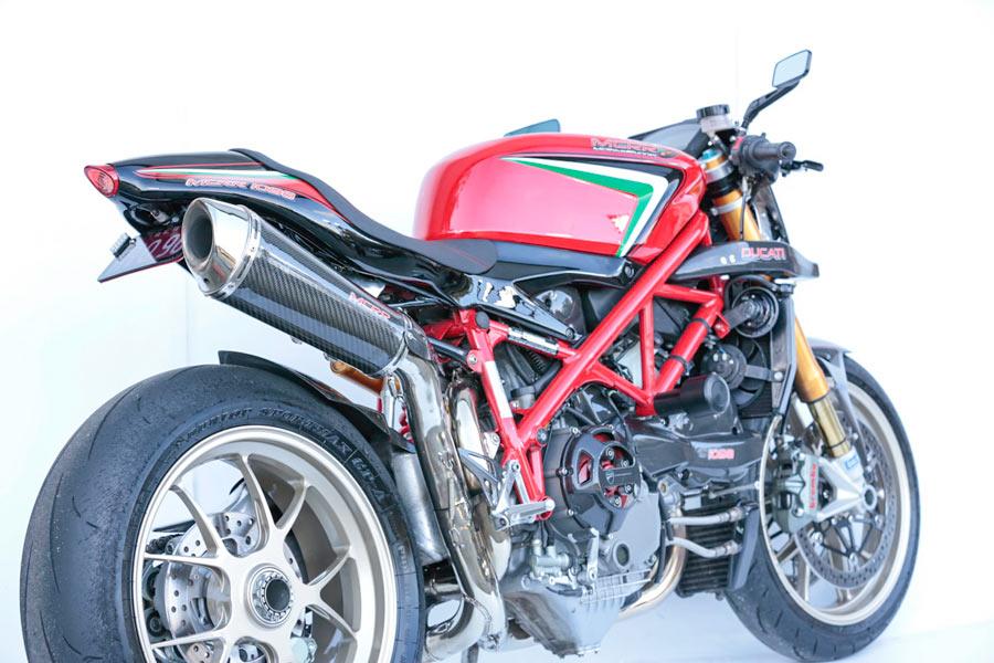 The Villain Ducati 1098s rearview