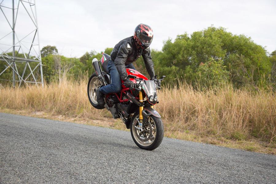custom Ducati 1098s stoppie