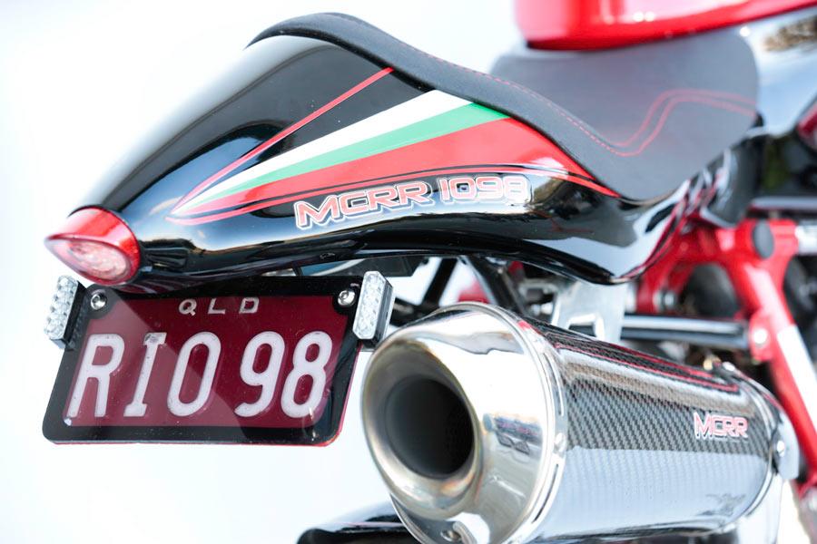 hand made fiberglass Ducati tail