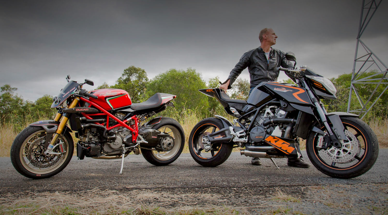 Custom Ducati 1098 and KTM RC8