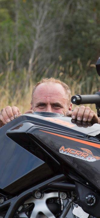 MCRR behind KTM RC8