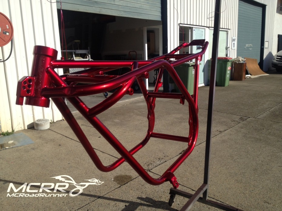 honda cbx frame candy red