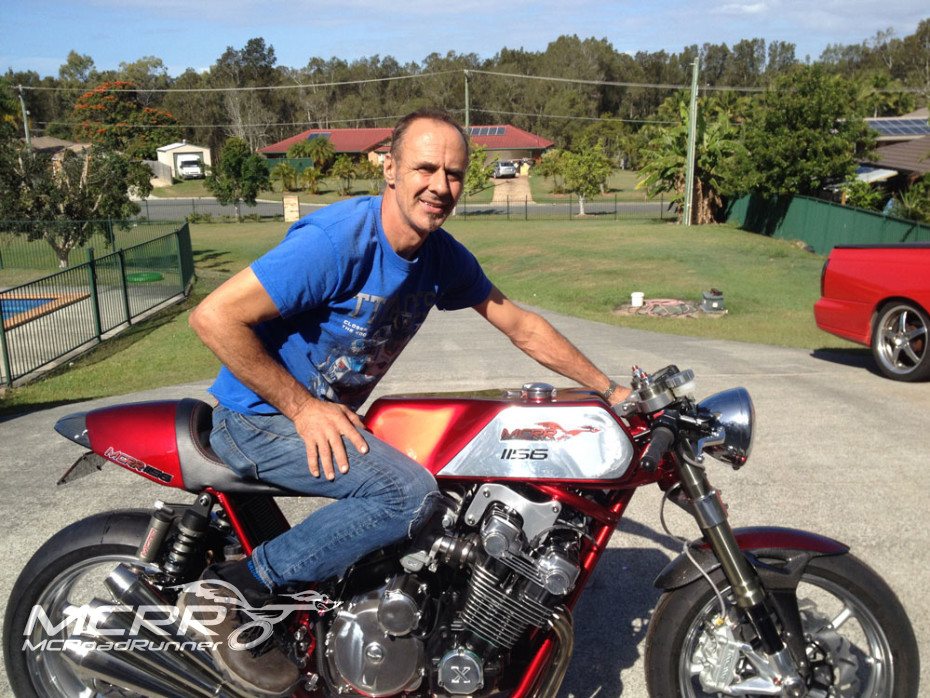 mcrr on his custom cafe racer cbx